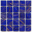 Cobalt Blue glass tile from Hakatai Aventurine series