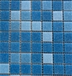 Image of UA315, an opaque blue glass tile mix for pool waterlines