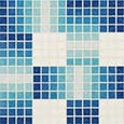 Custom mosaic repeating patterns: uncut tile