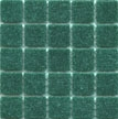 Emerald green cartglass mosaic tile