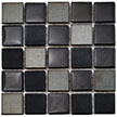 Raven Blend, black tile blend, accent tile, metal and glass tile backsplash