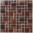 Frisco mosaic tile has brown, maroon, and beige colors throughout