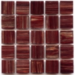 Maroon with gold swirls in Hakatai Aventurine mosaic tile