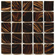 Elegant dark brown color from Hakatai Aventurine is a beautiful mosaic tile