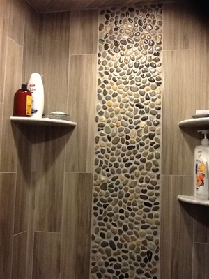 glazed chateau river stone tile from hakatai