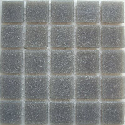 A grey mosaic tile from the CartGlass tile line