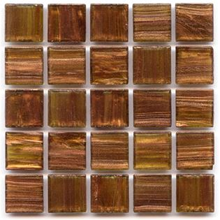 Hakatai Aventurine glass tile series light brown tile with copper swirls