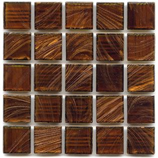 Rosewood mosaic tile from hakatai has copper swirls wrapped in brown