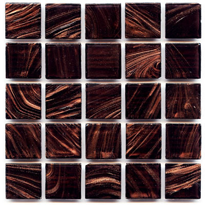 Aubergine glass tile from Hakatai Avernturine glass tile line