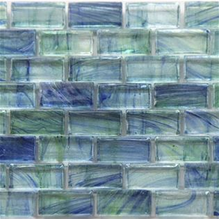 An image of green blue glass subway tile BH802 Mallard from Bohemia Series