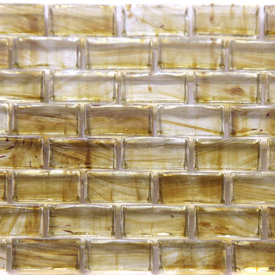 Chanterelle a subway glass mosaic tile perfect for home improvement and remodel