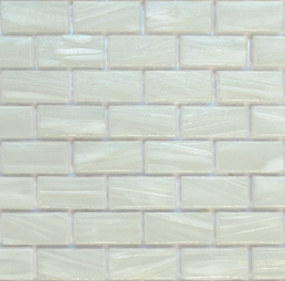 BH 808 Magnolia is a white subway glass tile perfect as wall tile or accent tile
