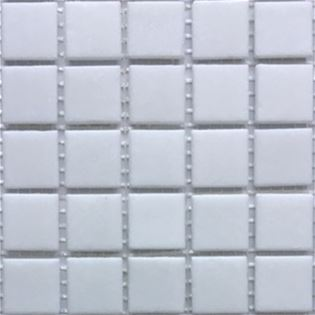 China is a white opaque vitreous glass tile