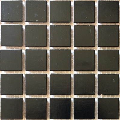 Black vitreous mosaic tile for art projects