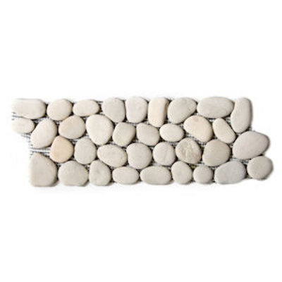 White Pebble Border