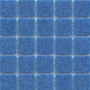Ocean Blue vitreous tile in loose or mesh sheets.