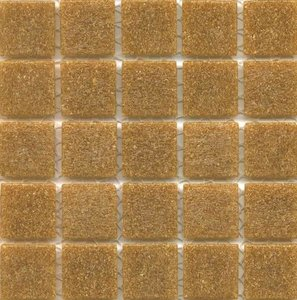 Fossil is vitreous brown glass tile
