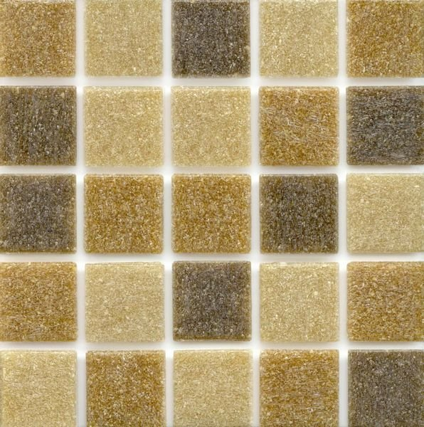 UA305 is a brown mosaic glass tile mix from Hakatai Enterprises, Inc