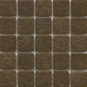 Teak brown glass tile for mosaic craft projects