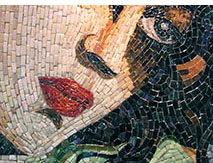 Example of a fine-cut mosaic mural