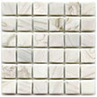 HM630 Ivory is a white glass tile suitable for bathrooms, pool installations and counter tops