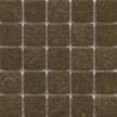 Teak vitreous brown tile by cartglass