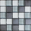 Picture of Heron Blend, a metal tile and glass tile blend from Hakatai Enterprises
