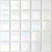 white glass tile with iridescence for glamorous look